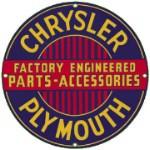 Chrysler Plymouth Metal Sign