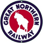 Great Northern Railroad Metal Sign