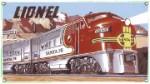 Lionel Santa Fe Metal Sign