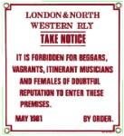 London & North Railway Metal Sign
