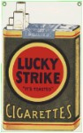 Lucky Strike Metal Sign
