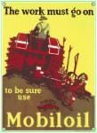 Mobiloil Tractor Metal Sign