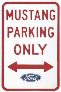 Mustang Parking Only Metal Sign