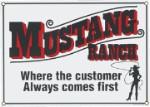 Mustang Ranch Metal Sign