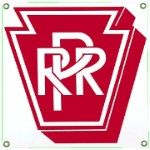 Pennsylvania Railroad Metal Sign