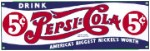 Pepsi Cola Metal Sign
