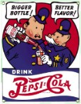 Pepsi & Pete Metal Sign