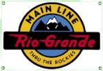 Rio Grande Railroad Metal Sign