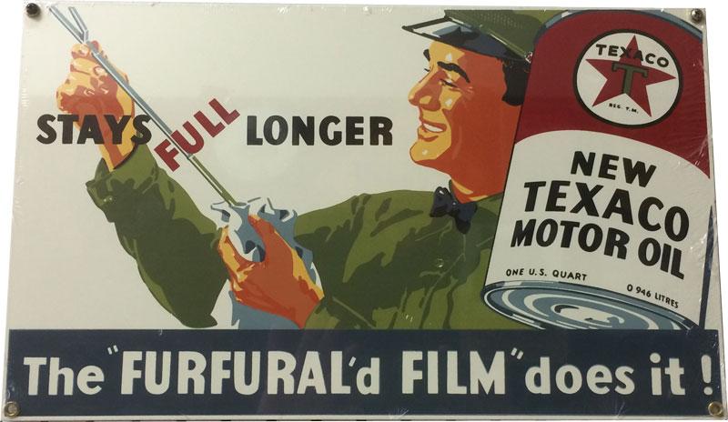 Texaco Gasoline Metal Sign