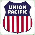 Union Pacific Metal Sign