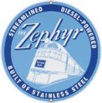 The Zephyr Metal Sign