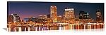 Baltimore, Maryland  Night Skyline Panorama Picture