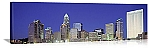 Charlotte, North Carolina Downtown Skyline at Night Panorama Picture