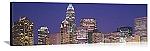 Charlotte, North Carolina Night Skyline Panorama Picture