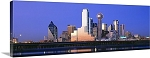 Dallas, Texas Downtown Skyline at Night Panorama Picture