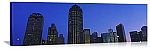 Dallas, Texas Skyscrapers at Dusk Panorama Picture