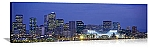 Denver, Colorado Night Skyline Panorama Picture