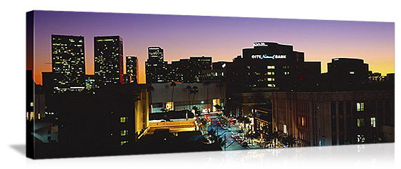 Los Angeles, California Century City Skyline Panorama Picture