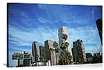 Los Angeles, California  Freeway Skyscapers Panorama Picture