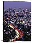 Los Angeles, California Hollywood Rush Hour Panorama Picture