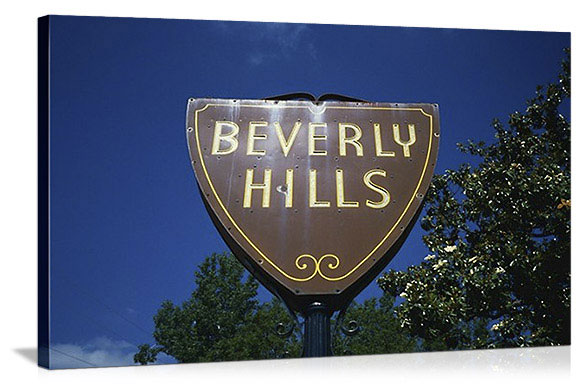 Los Angeles, California Welcome to Beverly Hills Panorama Picture