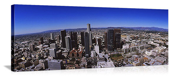 Los Angeles, California Aerial City Skyline Panorama Picture