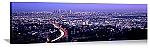 Los Angeles, California Skyline Lights Panorama Picture