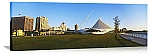 Milwaukee, Wisconsin Art Museum Skyline Panorama Picture