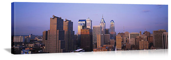 Philadelphia, Pennsylvania Downtown Skyline Panorama Picture