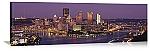 Pittsburgh, Pennsylvania Twilight Skyline Panorama Picture