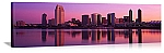 San Diego, California Twilight Skyline Panorama Picture