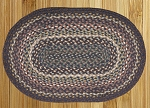 Oval Blue and Ivory Jute Braided Earth Rug�