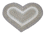 Heart Shaped Blue and Natural Jute Braided Earth Rug®