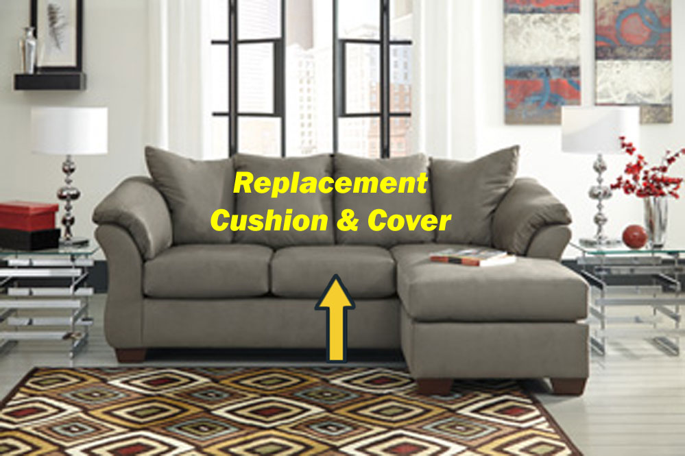 Ashley Darcy Replacement Cushion And Cover 7500518 Cobblestone