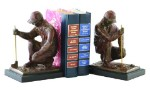 Golf Bookends Cast Brass