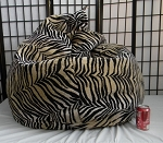 Zebra Smoke Skin Bean Bag Chair Not Furry But Soft!