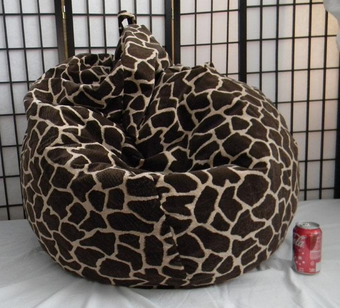 Giraffe Skin Bean Bag Chair Not Furry But Soft