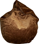Brown Suede Microfiber Bean Bag Chair