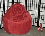 Flame Color Suede Microfiber Bean Bag Chair