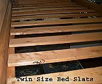 Twin Extra Long Platform Bed Slats Wooden