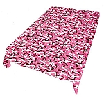 Pink Camouflage Plush Fuzzy Blanket