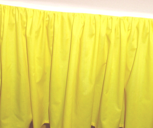 Bright Yellow Dustruffle Bedskirt Queen Size