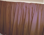 Copper Brown Dustruffle Bedskirt 3/4 Three Quarter Size