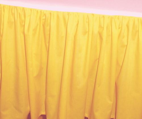 Golden Yellow Kodiac Dustruffle Bedskirt Queen Size