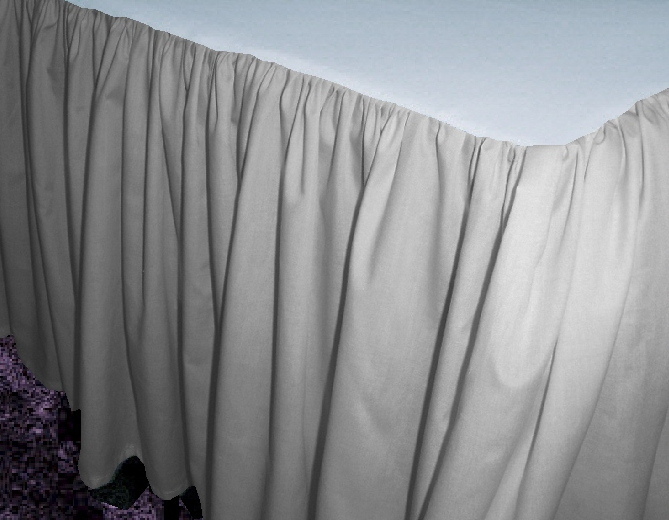 Light Silver Dustruffle Bedskirt Queen Size