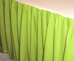Lime Green Dustruffle Bedskirt Full/Double Size