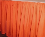 Orange Dustruffle Bedskirt 3/4 Three Quarter Size