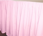 Pink Dustruffle Bedskirt 3/4 Three Quarter Size