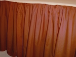 Rust Dustruffle Bedskirt 3/4 Three Quarter Size