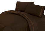 Luxurious Rustic Bedding Western Chocolate Barbwire Sheet Set